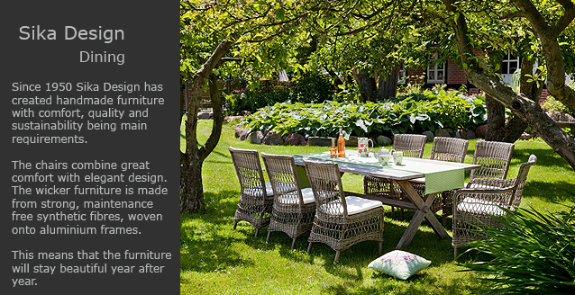 Sika Design garden furniture